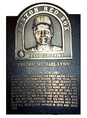 Fred Lynn Red Sox Hall Of Fame