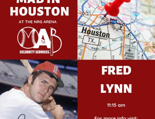 Fred Lynn Appearing at MAB Celebrity Show February 8-10 in Houston, TX